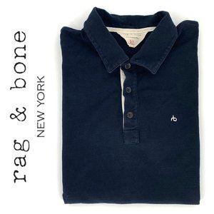 RAG & BONE Navy Blue Polo Shirt sz XL Short Sleeve